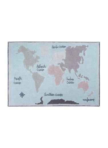 Lorena Canals Vintage Map, Halı,140 x200 Mavi